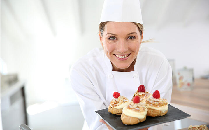 Smiling Pastry Chef