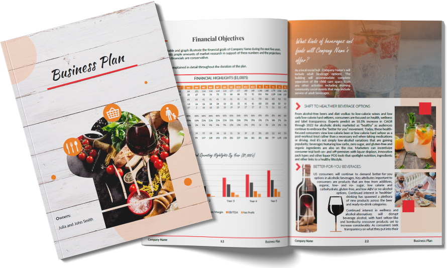 Restaurant cover page sample